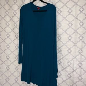 Long Sleeve Teal Scoop Neck Sweater